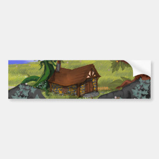 Beanstalk Cottage Cartoon Bumper Sticker