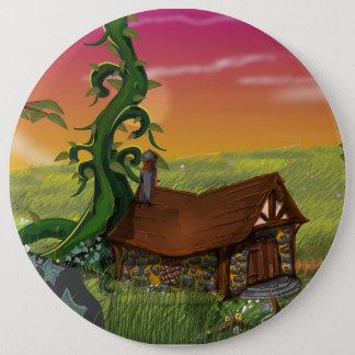 Beanstalk Cottage Cartoon Button