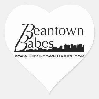 Beantown Babes Heart Stickers