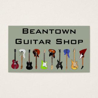 Beantown Guitar Shop Business Card