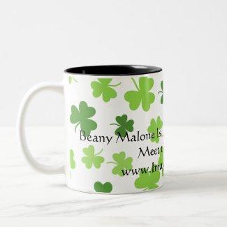 Beany Malone Is My Favorite Irish Girl! Shamrocks! Two-Tone Coffee Mug