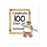 Bear 100th Day of School Tshirts and Gifts Post Cards
