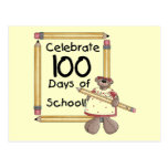 Bear 100th Day of School Tshirts and Gifts Postcards