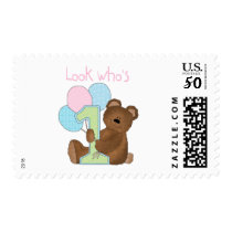 Bear 1st Birthday Pink Tshirts and Gifts Postage