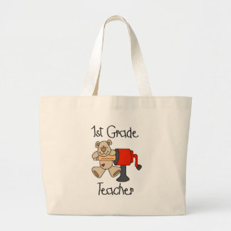 Bear 1st Grade Teacher Tshirts and Gifts Large Tote Bag