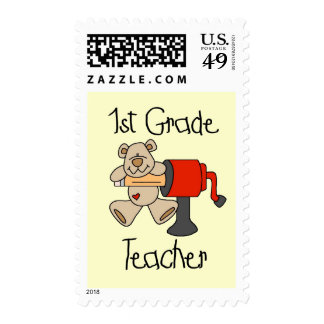 Bear 1st Grade Teacher Tshirts and Gifts Postage