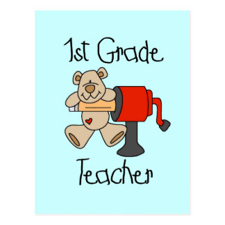 Bear 1st Grade Teacher Tshirts and Gifts Postcard