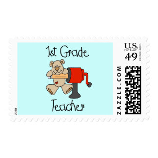 Bear 1st Grade Teacher Tshirts and Gifts Stamp