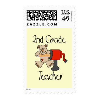 Bear 2nd Grade T-shirts and Gifts Stamp