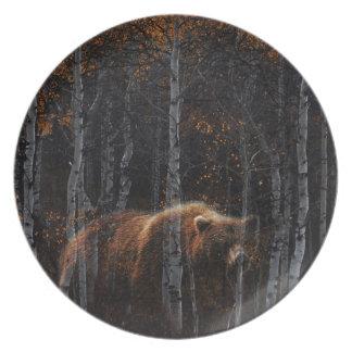 Bear 3 dinner plate