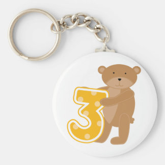Bear 3rd Birthday T-shirts and Gifts Keychain
