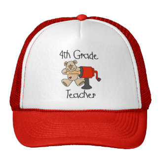 Bear 4th Grade Teacher Tshirts and Gifts Hat