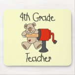 Bear 4th Grade Teacher Tshirts and Gifts Mouse Mat