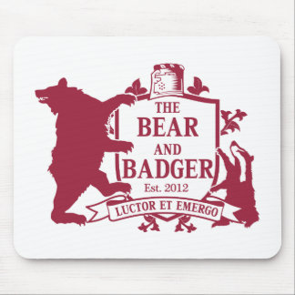 Bear and Badger Heraldic Mouspad Mouse Pad