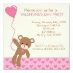 Bear and Balloons Valentine's Day Invitation