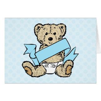 Bear and Blue Ribbon Card