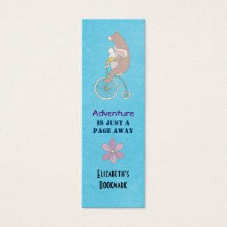 Bear and Bunny Adventure Bookmark Mini Business Card
