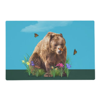 Bear and Butterflies Fantasy Placemat
