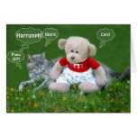 Bear and Cat Greeting Card