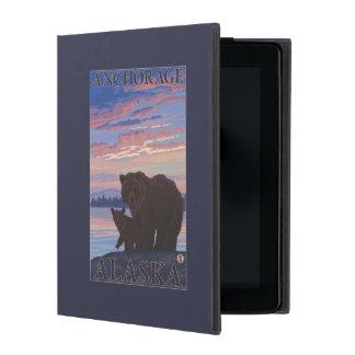 Bear and Cub - Anchorage, Alaska iPad Cover