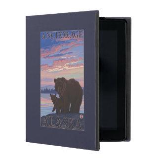 Bear and Cub - Anchorage, Alaska iPad Folio Cases