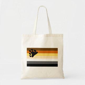 Bear and Cub Community LGBT Gay Pride Flag Canvas Bag