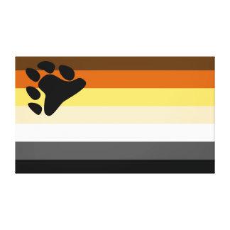 Bear and Cub Community LGBT Gay Pride Flag Canvas Print