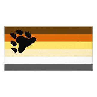 Bear and Cub Community LGBT Gay Pride Flag Card