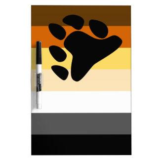 Bear and Cub Community LGBT Gay Pride Flag Dry-Erase Whiteboards
