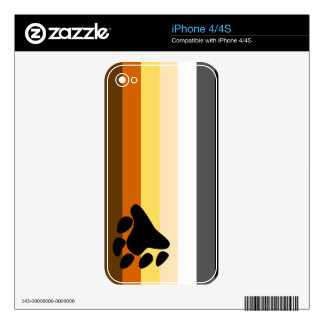 Bear and Cub Community LGBT Gay Pride Flag iPhone 4S Skins