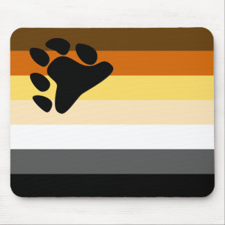 Bear and Cub Community LGBT Gay Pride Flag Mouse Pad