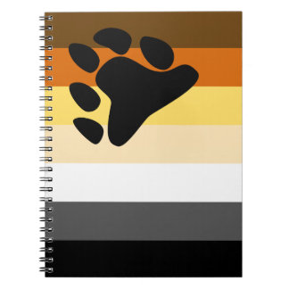 Bear and Cub Community LGBT Gay Pride Flag Note Books