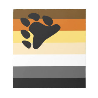 Bear and Cub Community LGBT Gay Pride Flag Notepad