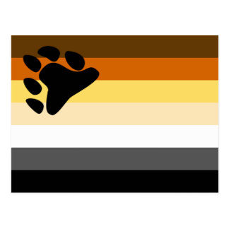 Bear and Cub Community LGBT Gay Pride Flag Postcards