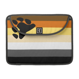 Bear and Cub Community LGBT Gay Pride Flag Sleeve For MacBook Pro
