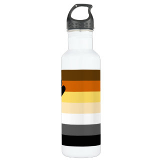 Bear and Cub Community LGBT Gay Pride Flag Water Bottle