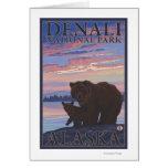 Bear and Cub - Denali National Park, Alaska Greeting Card