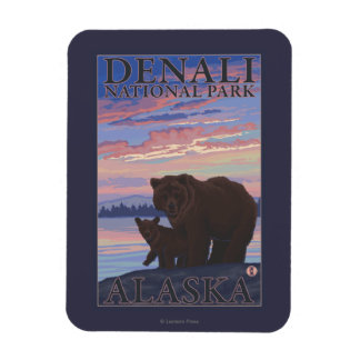Bear and Cub - Denali National Park, Alaska Magnet