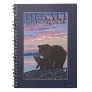 Bear and Cub - Denali National Park, Alaska Notebook