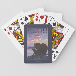 Bear and Cub - Denali National Park, Alaska Playing Cards