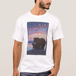 Bear and Cub - Denali National Park, Alaska T-Shirt