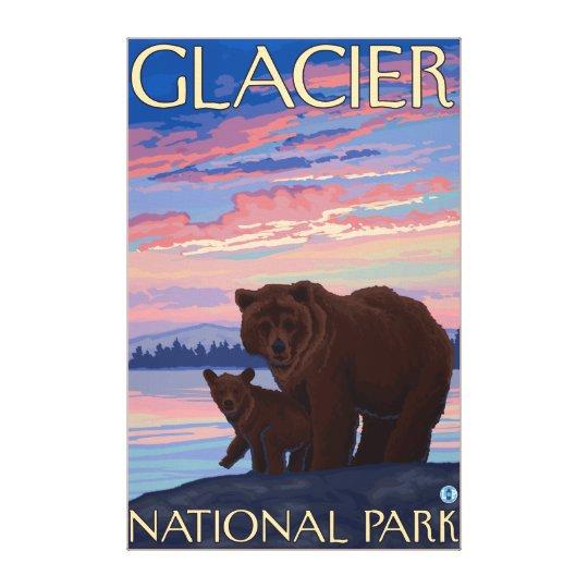 Bear and Cub - Glacier National Park, MT Canvas Print