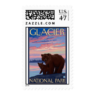 Bear and Cub - Glacier National Park, MT Postage