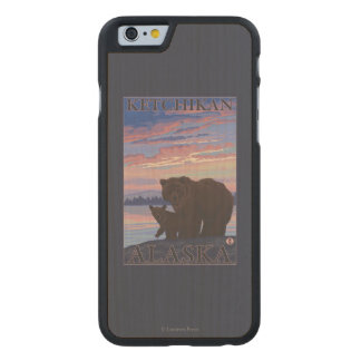 Bear and Cub - Ketchikan, Alaska Carved Maple iPhone 6 Case