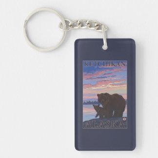 Bear and Cub - Ketchikan, Alaska Double-Sided Rectangular Acrylic Keychain
