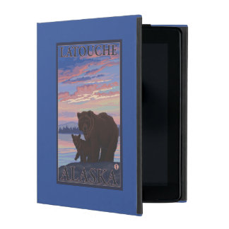 Bear and Cub - Latouche, Alaska iPad Folio Case
