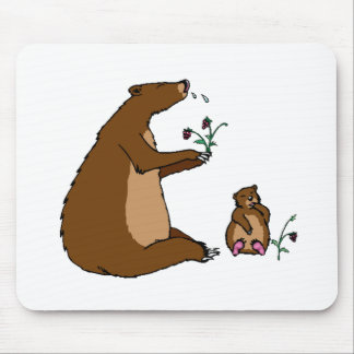 Bear And Cub Mouse Pads