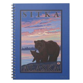 Bear and Cub - Sitka, Alaska Notebooks