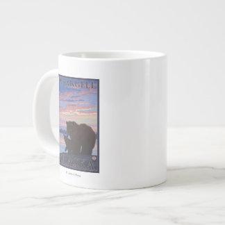 Bear and Cub - Wrangell, Alaska Extra Large Mug