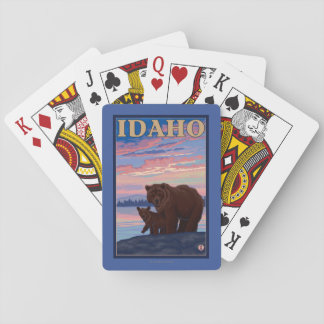 Bear and CubIdahoVintage Travel Poster Poker Cards